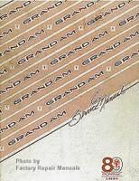 1989 Pontiac Grand Am Factory Service Manual Original Shop Repair