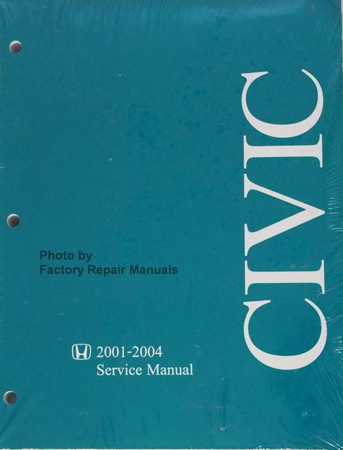 2001 2004 honda civic factory service manual original shop repair rh factoryrepairmanuals com 98 Civic Manual 2018 Honda Civic Manual Transmission