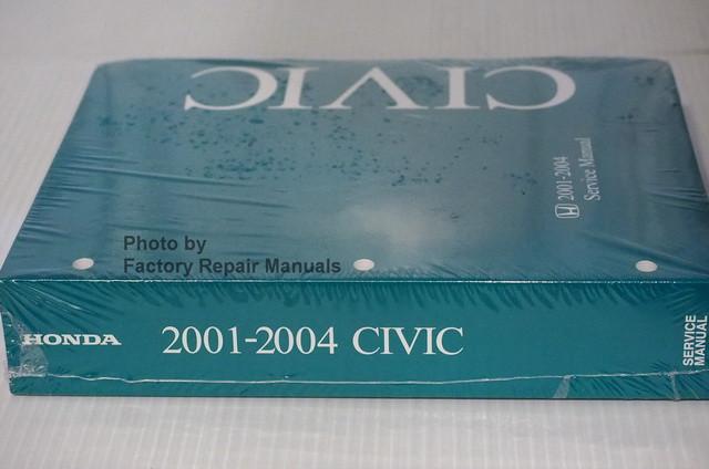 2001 2004 honda civic factory service manual original shop repair rh factoryrepairmanuals com Honda Civic 2018 Honda Civic Manual Transmission