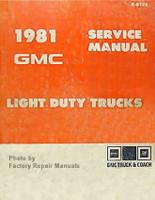 1981 GMC Light Duty Truck Factory Service Manual