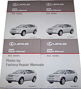 2008 lexus rx400h factory service manual set original shop repair rh factoryrepairmanuals com 2006 lexus rx400h service manual 2006 lexus rx400h manual pdf