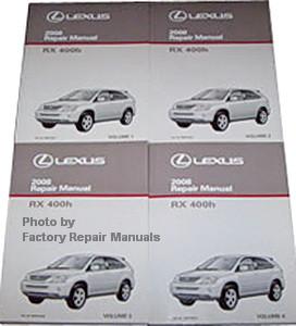 2008 lexus rx400h factory service manual set original shop repair rh factoryrepairmanuals com lexus rx400h repair manual pdf lexus rx 400h workshop manual