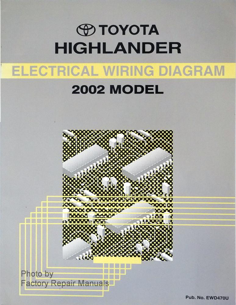 2002 toyota highlander electrical wiring diagrams original factory rh factoryrepairmanuals com