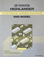 2002 toyota highlander factory service manual set original shop rh factoryrepairmanuals com 2003 Toyota Highlander Exhaust System Diagram 2002 Toyota Highlander Parts Diagram