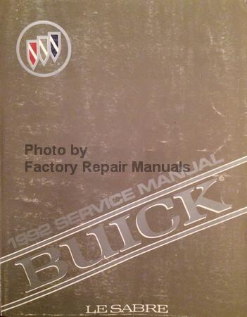 1992 buick lesabre factory service manual original shop repair rh factoryrepairmanuals com 1993 Buick LeSabre 1994 Buick LeSabre