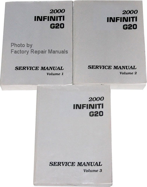 2000 infiniti g20 factory service manual 3 volume set original shop rh factoryrepairmanuals com 2000 Infiniti G20 Interior 2000 Infiniti G20 Slammed