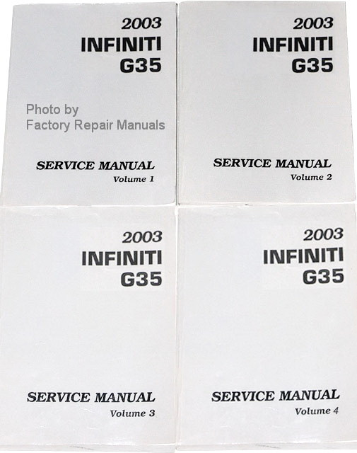 2003 infiniti g35 coupe factory service manual complete set original rh factoryrepairmanuals com Interior 2003 Infiniti I-35 2003 Infiniti G35