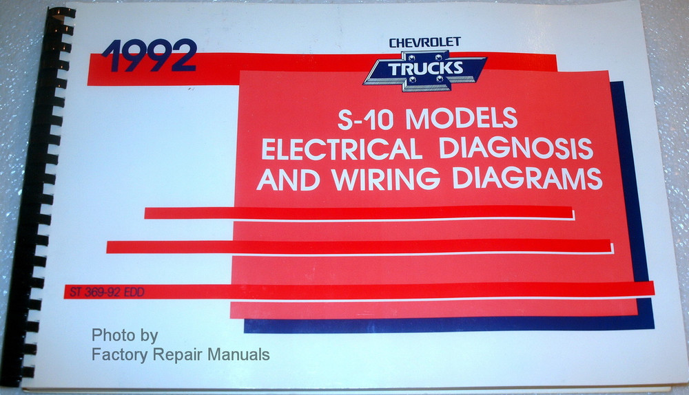 1992    Chevy    S10 Pickup Truck   Blazer Electrical Diagnosis   Wiring    Diagrams        Factory    Repair