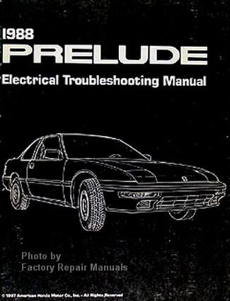 1988 honda prelude electrical troubleshooting manual original etm rh factoryrepairmanuals com 1988 honda prelude repair manual 1987 Honda Prelude