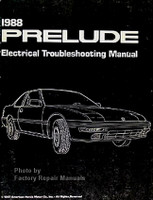 1988 Honda Prelude Electrical Troubleshooting Manual