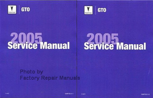 2005 pontiac gto factory shop service repair manual set