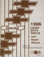 1986 Chevrolet Light Duty Truck Unit Repair Manual