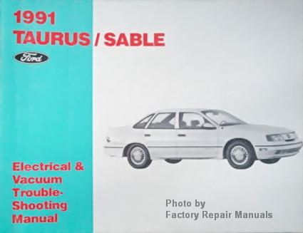 1991 ford taurus mercury sable electrical and vacuum troubleshooting rh factoryrepairmanuals com 2010 Ford Taurus Repair Manual 2010 Ford Taurus Repair Manual