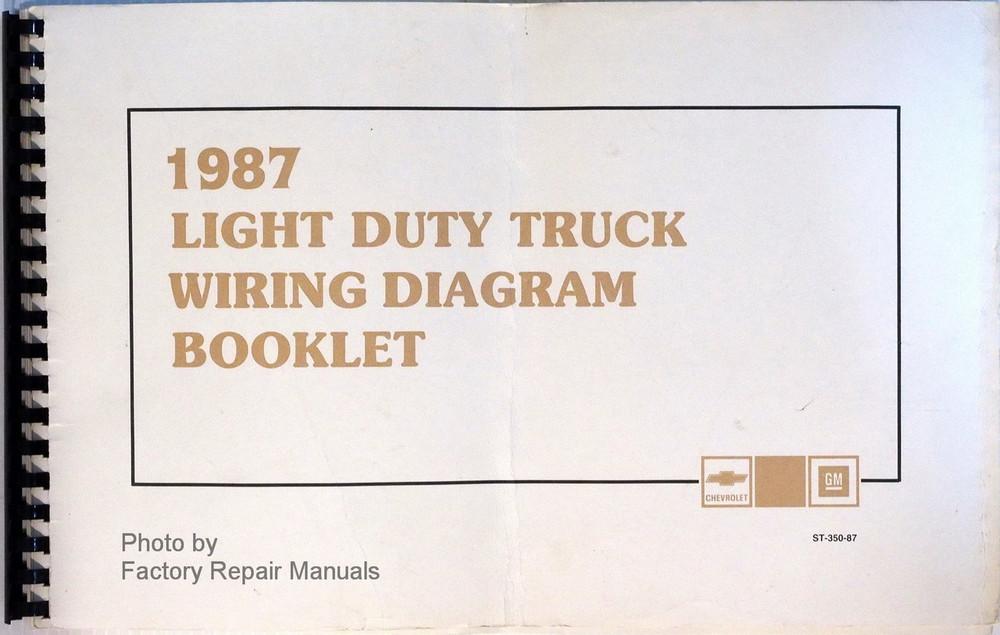1987 chevy 10 20 30 truck suburban blazer g van wiring diagrams 1987 chevrolet light duty truck wiring diagrams asfbconference2016 Gallery
