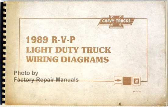1989 Chevy R V P Pickup Truck Suburban Van Original Wiring