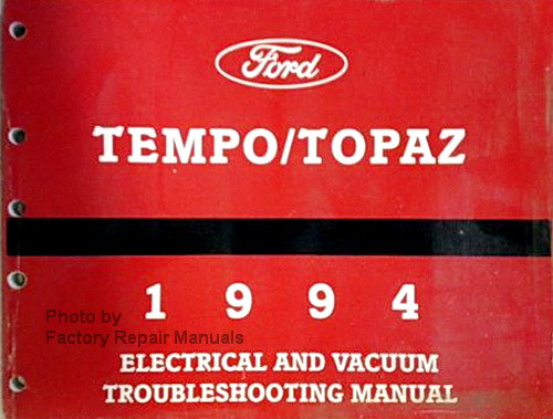 1994 ford tempo mercury topaz electrical vacuum troubleshooting rh factoryrepairmanuals com Ford Tempo 94 G L 91 Ford Tempo Blue Book