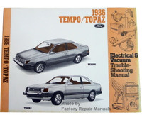 1986 Ford Tempo Mercury Topaz Electrical & Vacuum Troubleshooting Manual