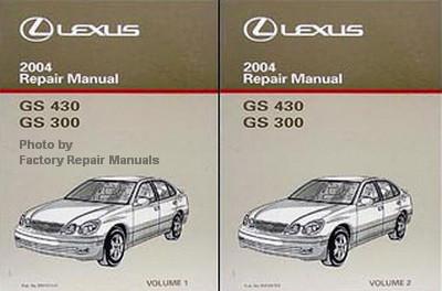 2004 lexus gs430 gs300 factory service manual set original shop rh factoryrepairmanuals com Lexus GS300 Service Manual Lexus GS300 Service Manual