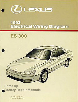 1993 lexus es300 electrical wiring diagrams es 300 original manual rh factoryrepairmanuals com 1992 Lexus ES300 1993 lexus gs300 service manual