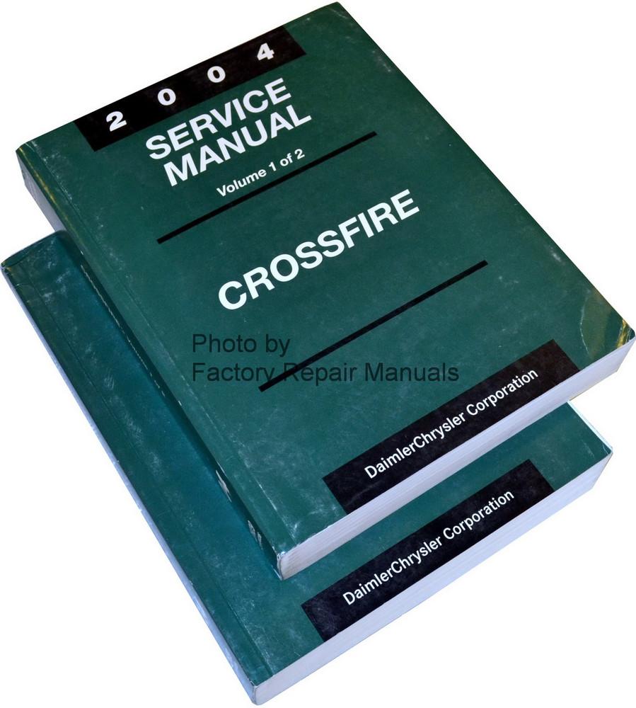 2004 chrysler crossfire factory service manual set original shop rh factoryrepairmanuals com Owner's Manual Online Chrysler Crossfire 2004 chrysler crossfire repair manual pdf
