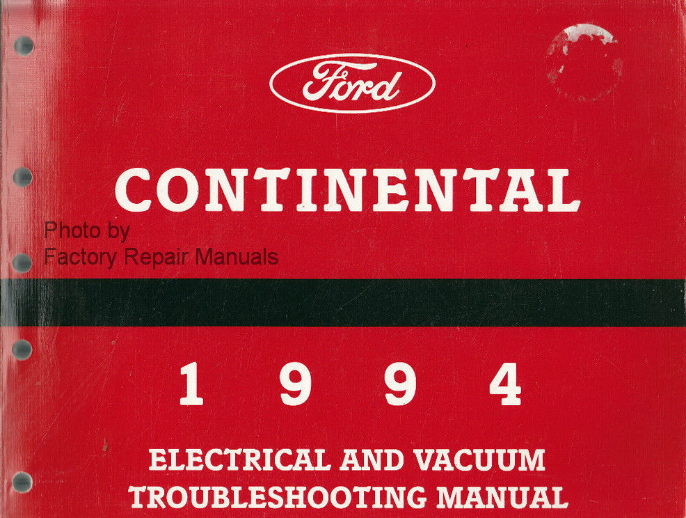 1994 lincoln continental electrical vacuum troubleshooting manual original ford factory. Black Bedroom Furniture Sets. Home Design Ideas