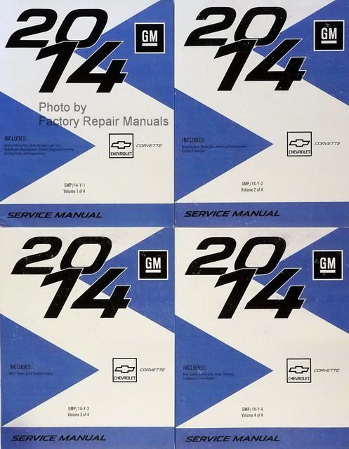 2014 chevy corvette factory service manual 4 volume set original rh factoryrepairmanuals com c7 corvette repair manual Chevrolet Corvette GTP