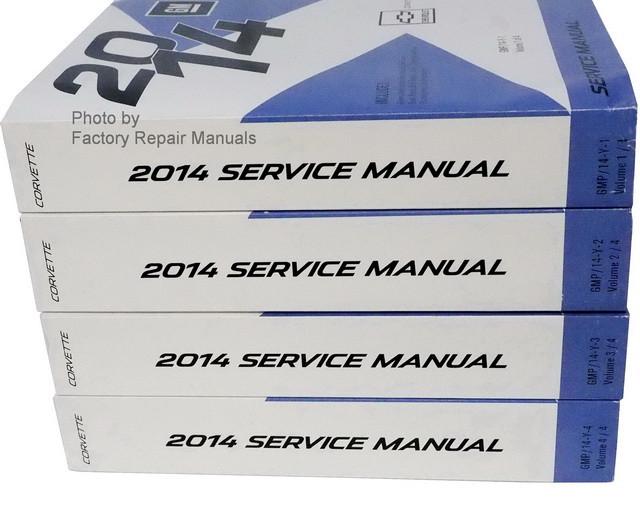2014 chevy corvette factory service manual 4 volume set original rh factoryrepairmanuals com 2001 Corvette 1972 Corvette