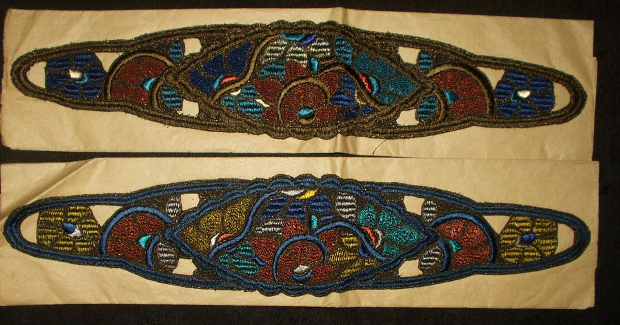 Art Deco 1920s Embroidery Thread Gold Metallic Hat Dress Trims