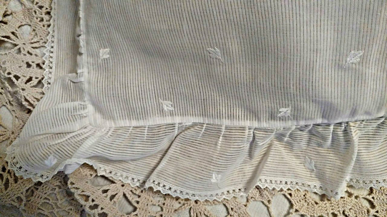 1920 Dimity Fancy Baby Boudior Pillow Case Machine Embroidery