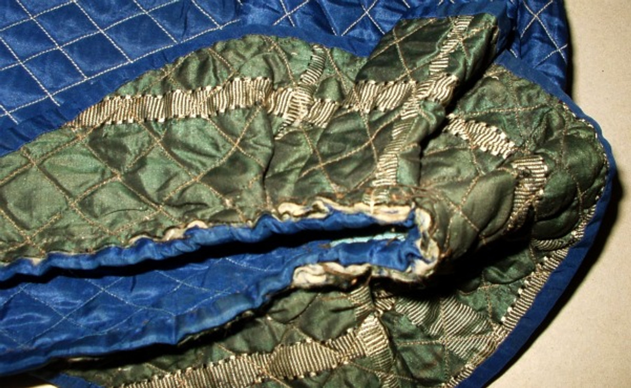 Antique  Original Civil War 1860 Child's Silk Taffeta Quilted Bonnet