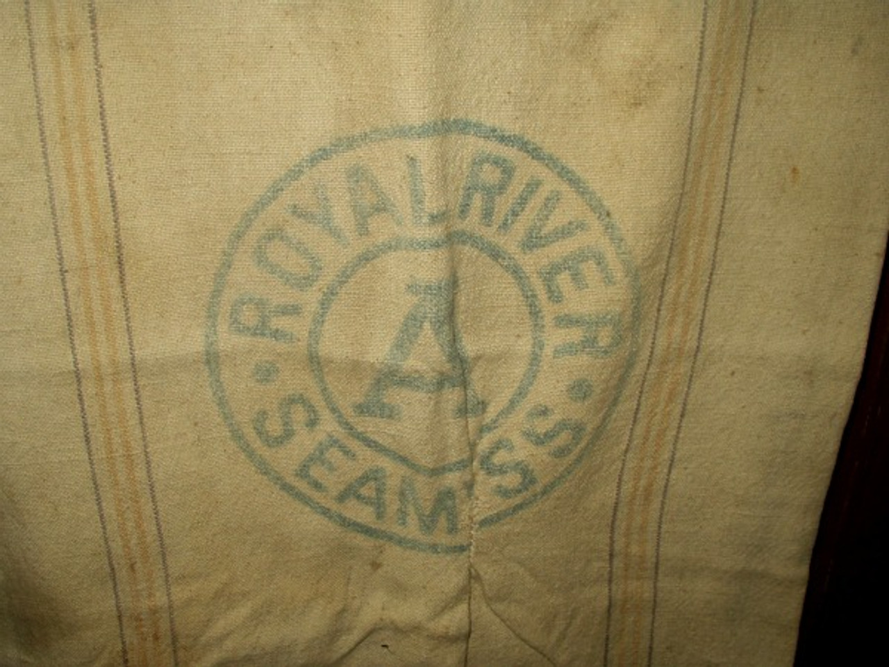 1880 1900 Grain Bag Seamless  American Royal River Farmhouse Primitive