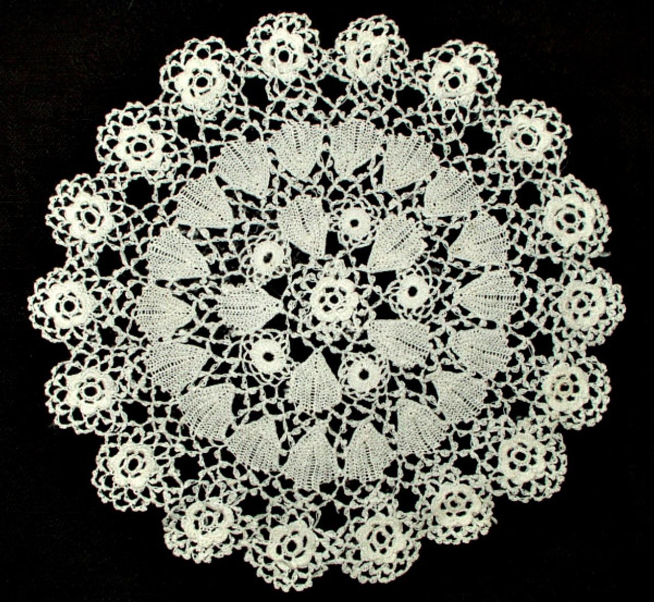 Vintage 1920's Irish Crochet Lace Table  Doily Round Mat