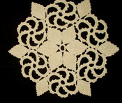 Antique Vintage 1900's 1920's  Irish Crochet Table Doily