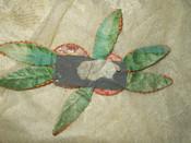 Vintage 1920 Abstract Flower Gold Metallic Velvet Silk Fabric Dress Hat Trim