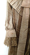 Victorian Combing Jacket Dressing Sacque Garment Pleated Pongee Raw Silk