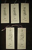 Edwardian Tally Bridge Game Cards Vintage 5 Lovely Lady Unused Ephemera
