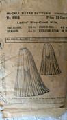 8944 Victorian Original McCall Skirt Pattern Gored Skirt 1890s