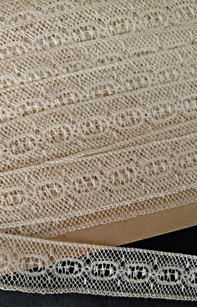 Lace Insertion Trim Yardage Machine Cotton Vintage Early 1900s
