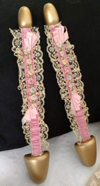 1920s Shoe Stretchers Form Ribbon Rosette Lace Boag Company