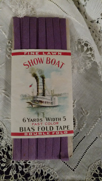 Vintage 1920 Show Boat Bias Tape Sewing Notion Advertising Graphics