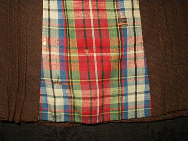 Brown Plaid 1880 Victorian Bisque Doll Walking Skirt