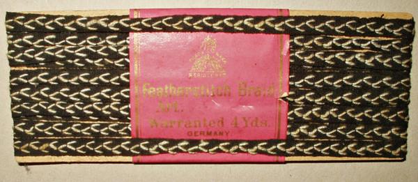 Vintage 1920s Original Card Germany Featherstitch Novelty Braid Dress Trim