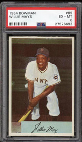 1954 Bowman  Willie Mays #89 - PSA 6