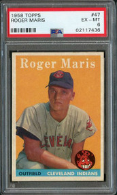 1958 Topps #47 Roger Maris RC Rookie PSA 6 - Centered