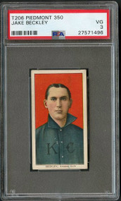 T206 Piedmont 350 Jake Beckley HOF PSA 3- Centered