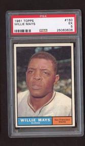 1961 Topps #150 Willie Mays PSA 5 - Centered