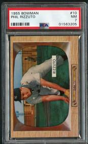 1955 Bowman #10 Phil Rizzuto HOF - PSA 7