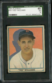 1941 Playball #14 Ted Williams HOF SGC 3/40 - 3rd Year!