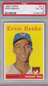 1958 Topps #310 Ernie Banks PSA 6 - Centered