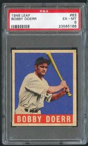 1948 Leaf #63 Bobby Doerr HOF PSA 6 - Centered